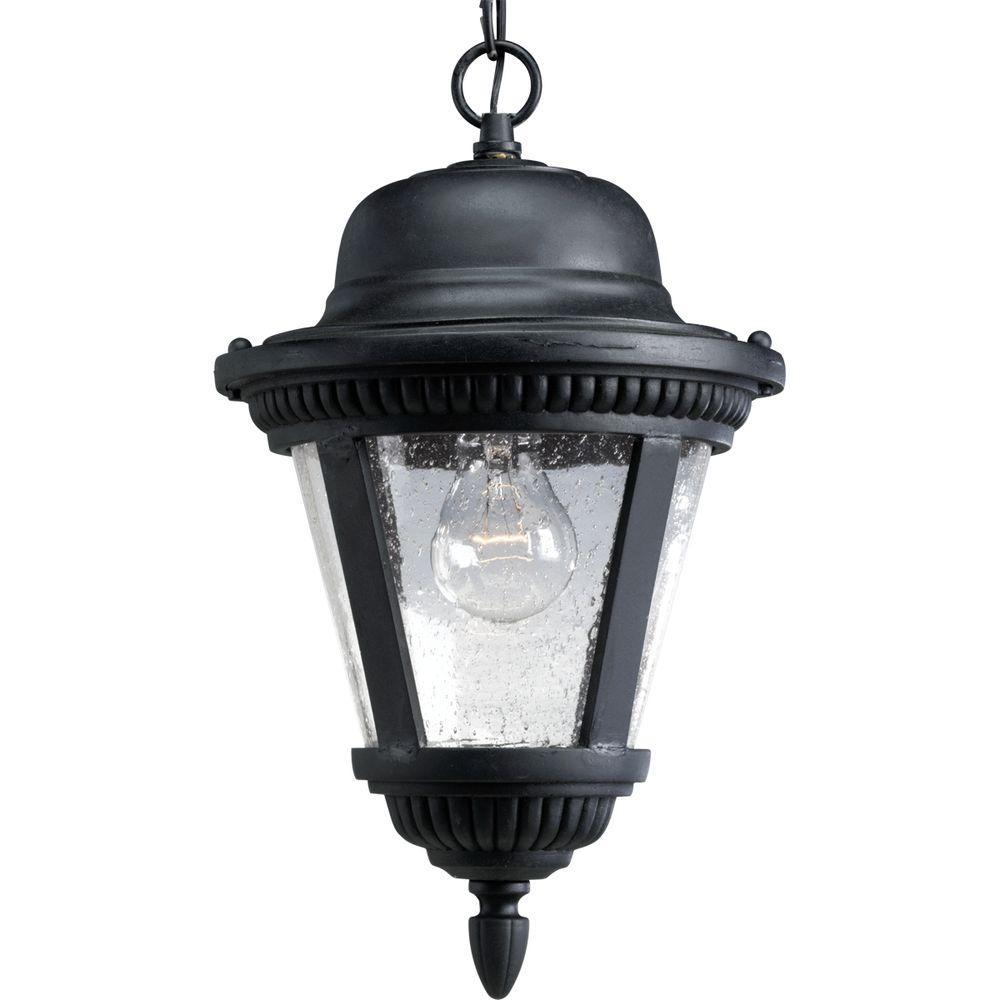 Progress Lighting Westport Collection Textured Black 1-Light Outdoor ...