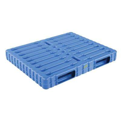 47 in. x 39 in. x 6 in. Solid Top and Bottom Wash-Down Plastic Pallet/Skid