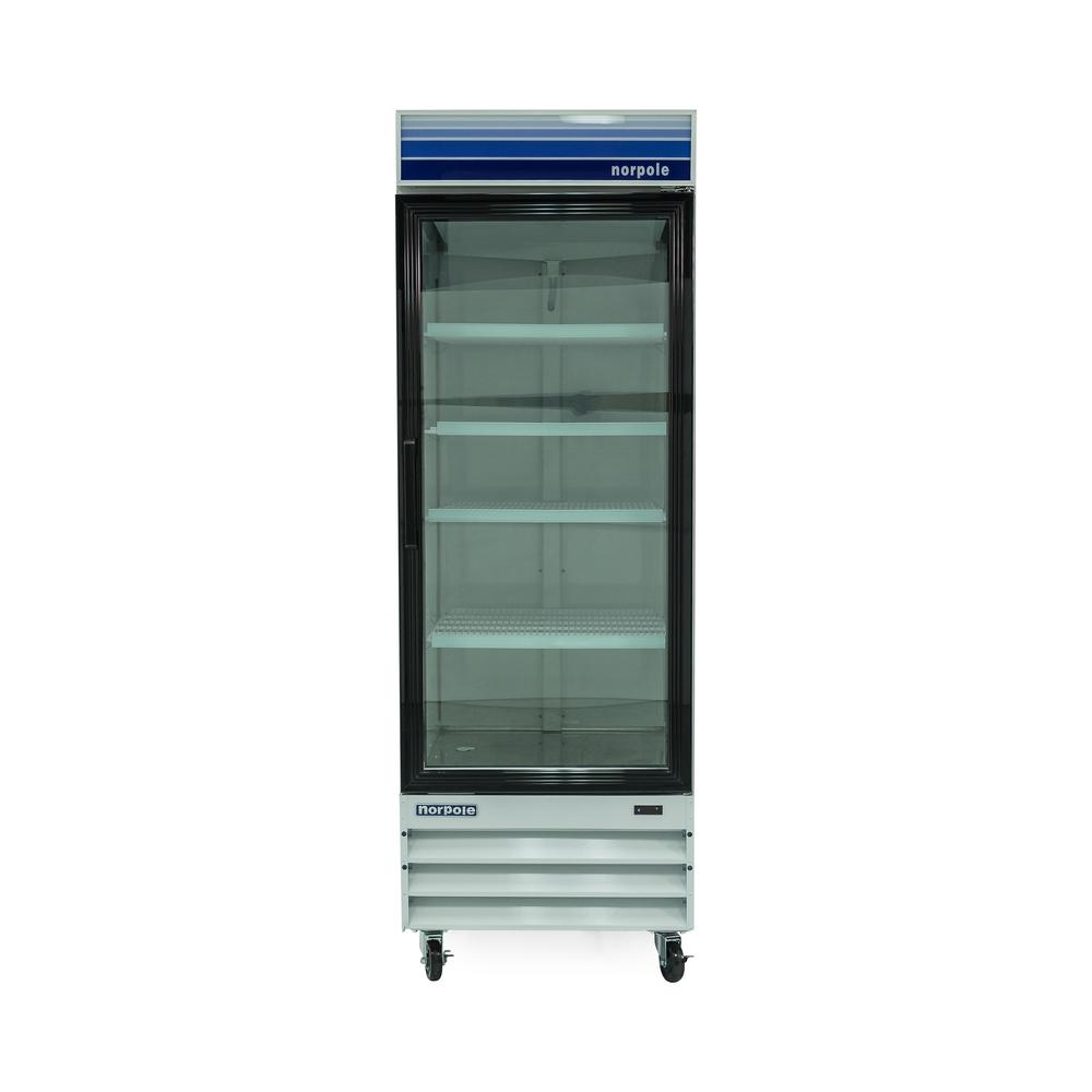 28 in. W 23 cu. ft. Single Swing Glass Door Commercial