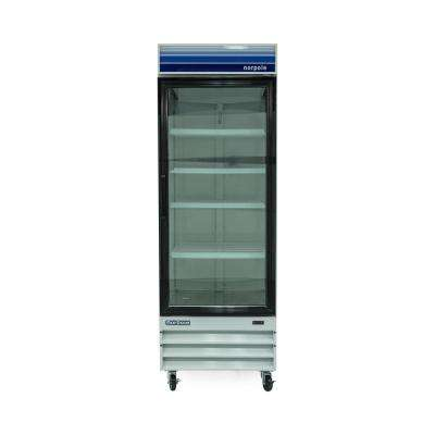 28 in. W 23 cu. ft. Single Swing Glass Door Commercial Refrigerator in White