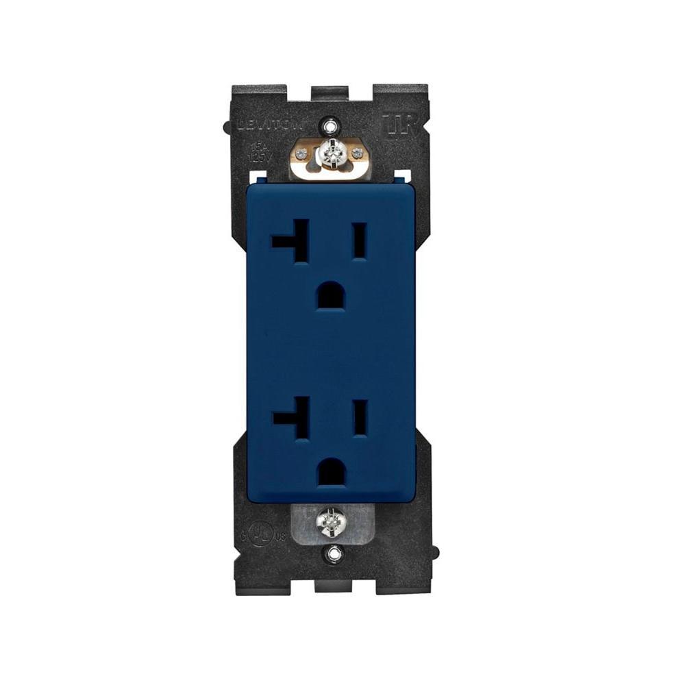 Leviton Renu 20 Amp Tamper Resistant Duplex Outlet - Rich Navy-DISCONTINUED