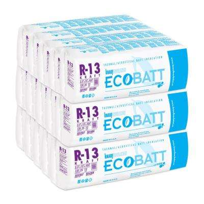 R-13 Kraft-Faced Fiberglass Insulation Batt 3-1/2 in. x 15 in. x 105 in. (15-Bags)