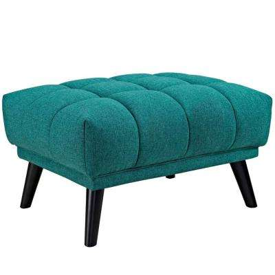 Bestow Teal Upholstered Fabric Ottoman