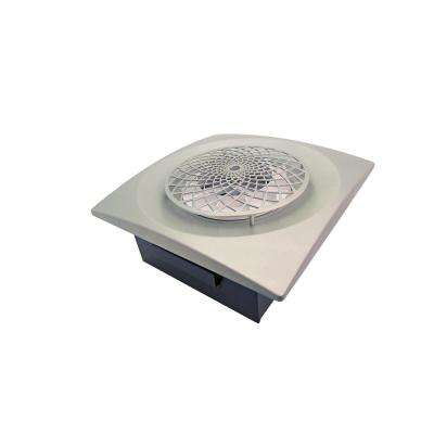 Slim Fit 60 CFM Remodeler Bathroom Exhaust Fan with Cyclonic Technology Satin Nickel