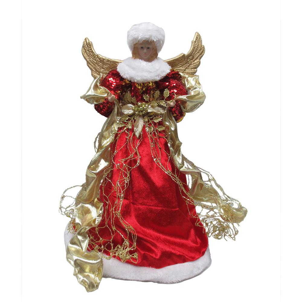 Home Depot Christmas Decorations: Home Accents Holiday 18 In. Red Angel Christmas Tree