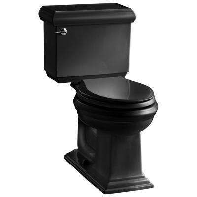 Memoirs Classic 2-piece 1.6 GPF Single Flush Elongated Toilet with AquaPiston Flush Technology in Black Black