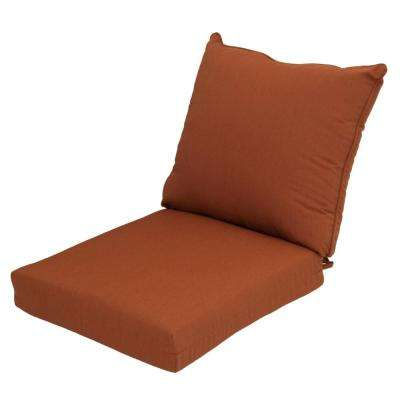 Sunbrella Canvas Paprika 2 Piece Deep Seating Outdoor Lounge Chair Cushion