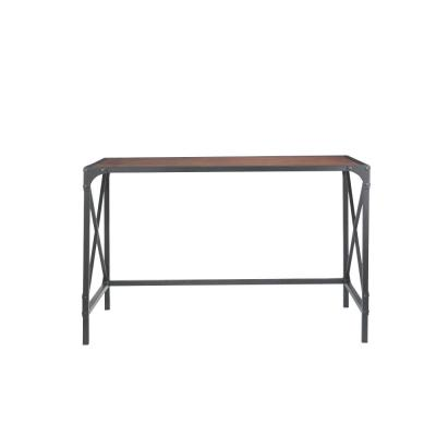 Industrial Empire Black and Pine Desk