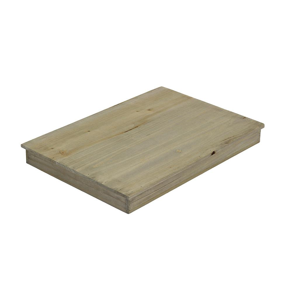 Crate and Pallet 18 in. x 12-1/2 in. x 1-3/4 in. Large Crate Lid in Weathered Gray