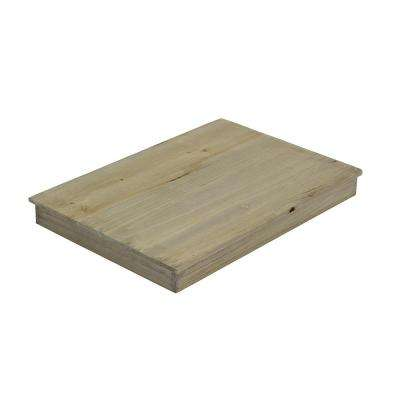 18 in. x 12-1/2 in. x 1-3/4 in. Large Crate Lid in Weathered Gray
