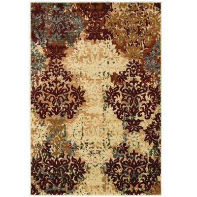 Grace Red 5 ft. 2 in. x 7 ft. 2 in. Plush Indoor Area Rug