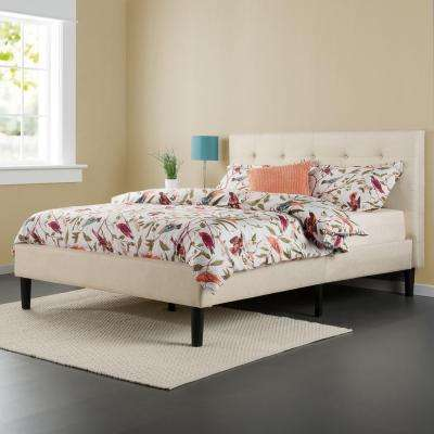 Taupe Full Upholstered Bed