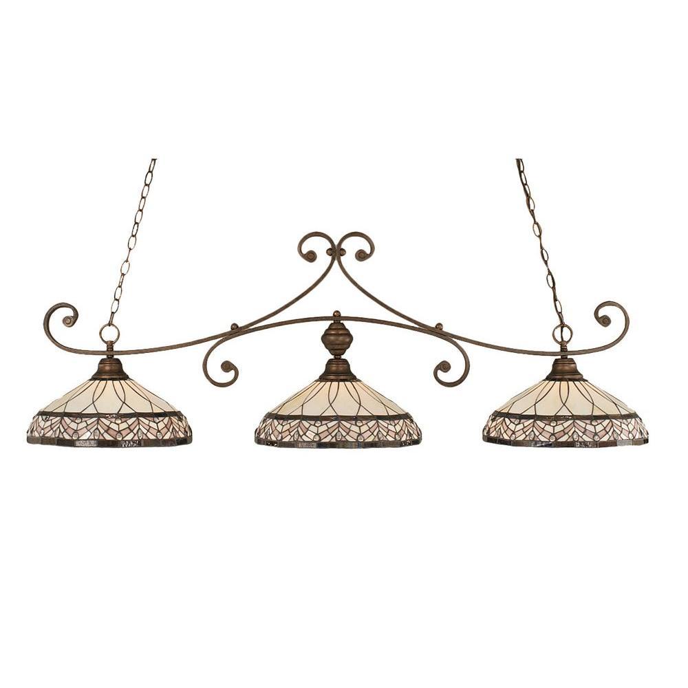 Filament Design Concord 3-Light Bronze Island Pendant