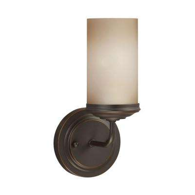Sfera 5 in. W. 1-Light Autumn Bronze Bath Light with LED Bulb