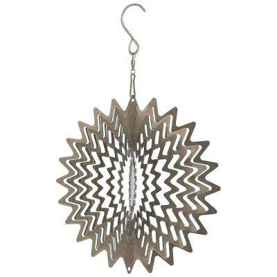 Silver Star 6 in. Outdoor Wind Spinner