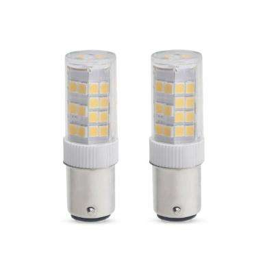 35-Watt Equivalent T4 Dimmable Double-Contact Bayonet LED Light Bulb Warm White Light (2-Pack)