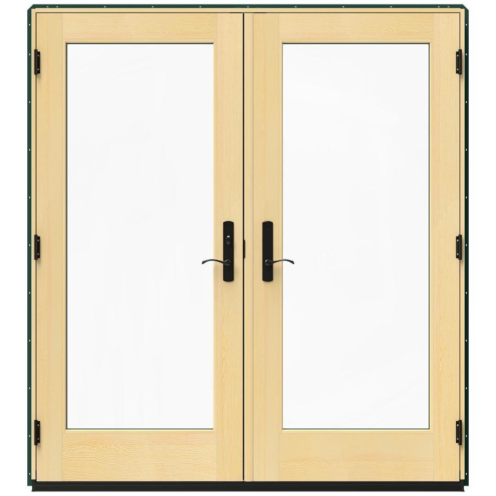 Jeld wen 72 in x 80 in w 4500 green clad wood right hand for 14 x 80 interior door