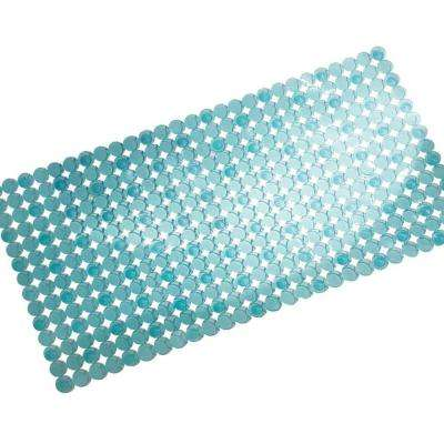 Orbz 27 in. x 14 in. Bath Mat in Blue
