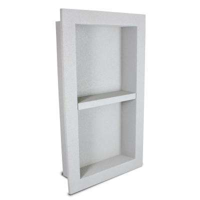 12 in. x 16 in. x 3.5 in. Shower Niche with Modular Shelf in Gray