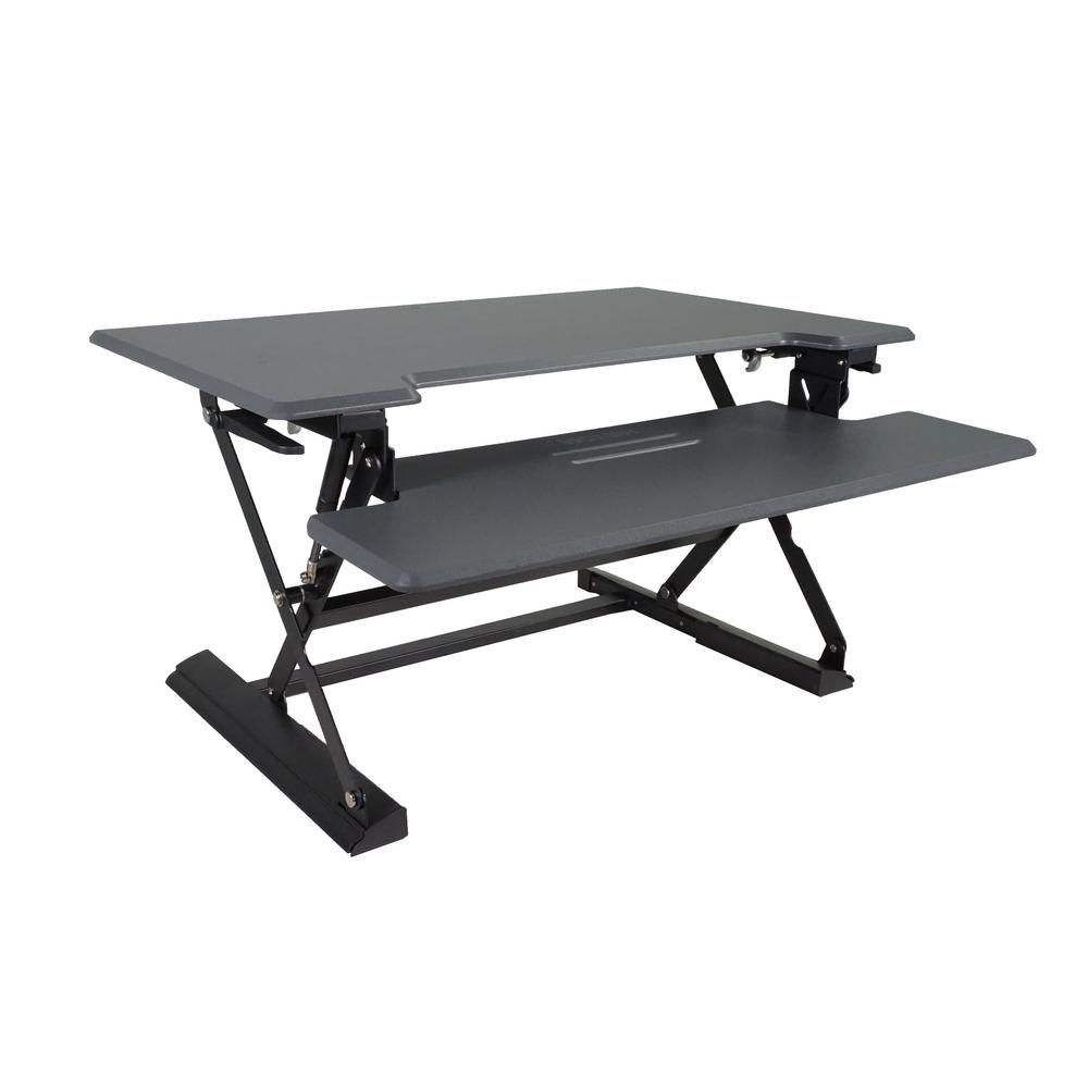 Victor 31 In H Gray And Black Adjustable Standing Desk With