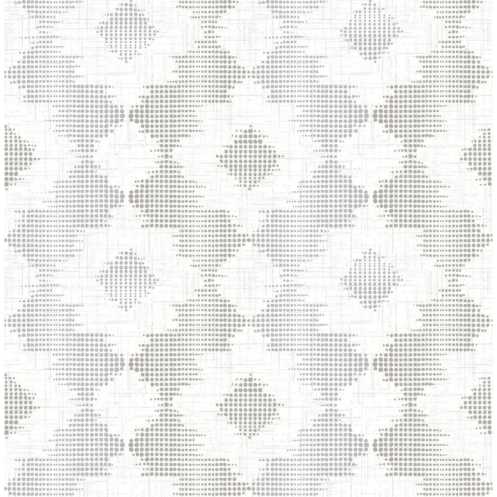Babylon Metallic Abstract Floral Wallpaper