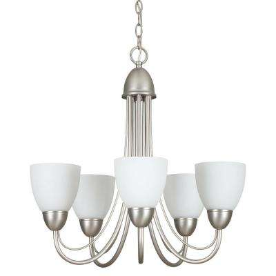 Fiscus 5-Light Satin Nickel Chandelier
