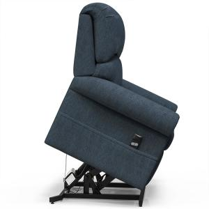 Cool Merax Blue Gel Memory Foam Power Lift Recliner Chair Gmtry Best Dining Table And Chair Ideas Images Gmtryco