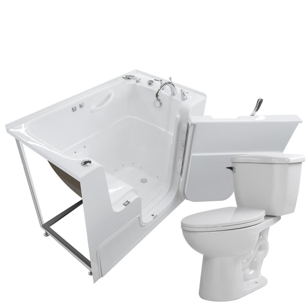 Universal Tubs Wheelchair Accessible 53 in. Walk-In Air Bath Tub in ...