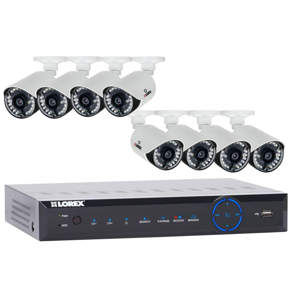 Lorex 12-Channel 960H Surveillance System with 1 TB HDD and (8) 700 TVL Cameras