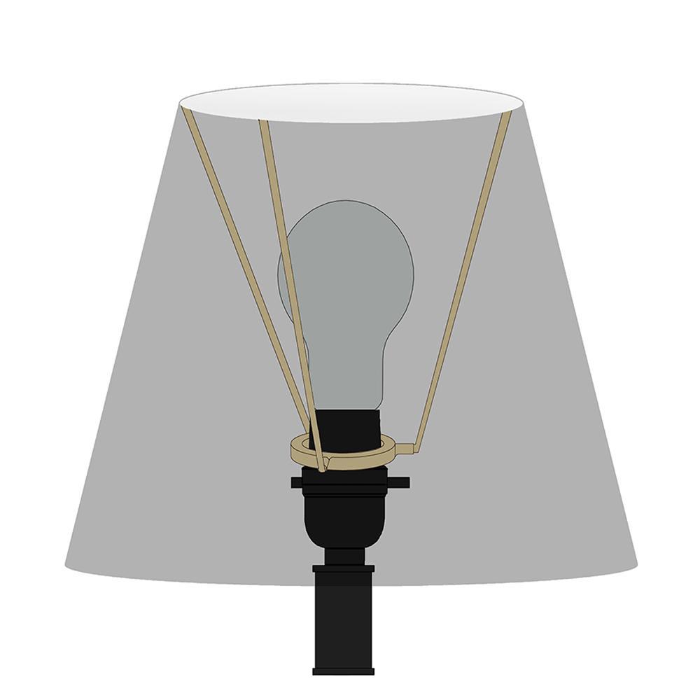 H Beige Linen Round Table Lamp Shade, Slip Uno Drum Lamp Shades