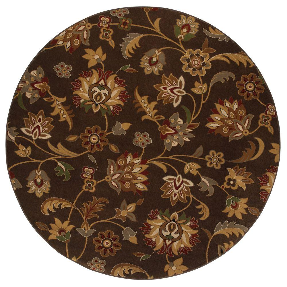 Mohawk Concord Brown 8 ft. Round Area Rug-DSICONTINUED - DISCONTINUED