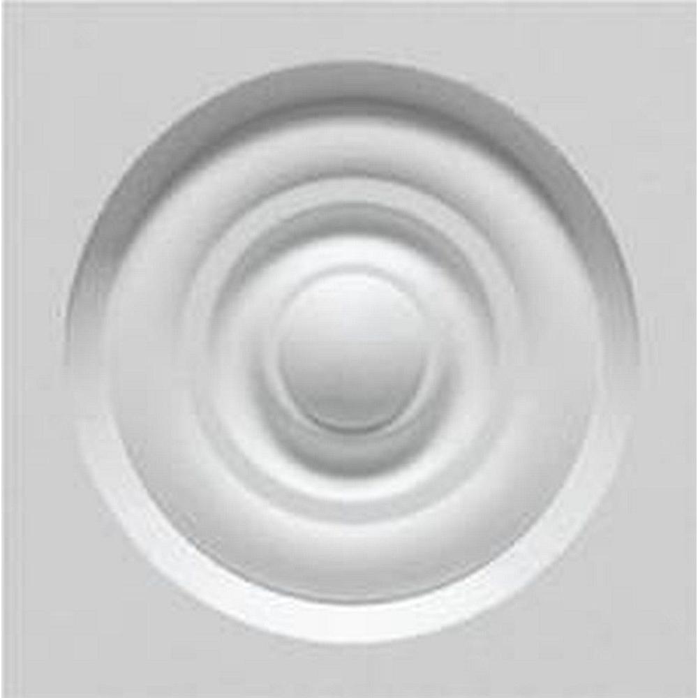 Minute Molding 8/9 in. x 2-3/4 in. x 2-3/4 in. Classic Rosette Plastic Architectural Trim