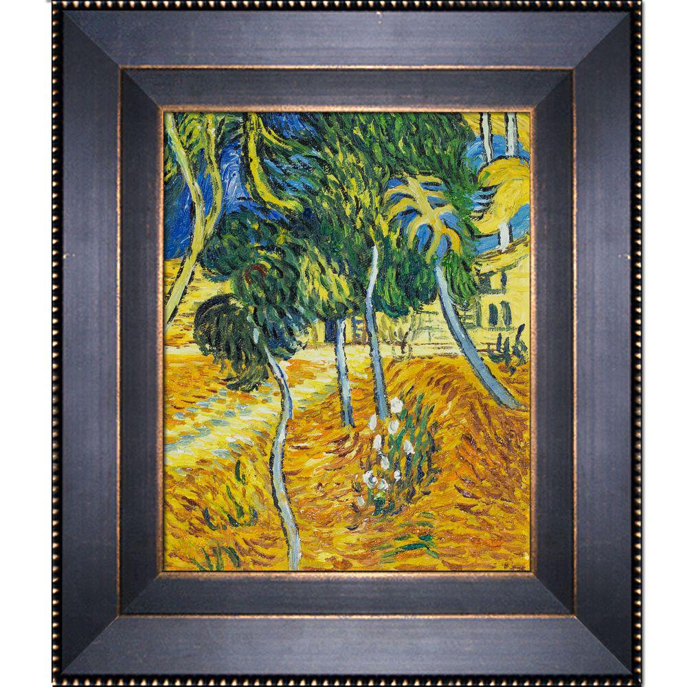 LA PASTICHE Trees in the Garden of St. Paul Hospitalby Vincent Van Gogh Framed Abstract Wall Art 13 in. x 15 in., Multi-Colored was $804.0 now $268.4 (67.0% off)