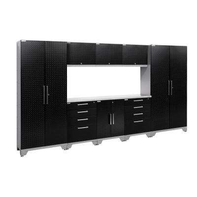 Performance Diamond Plate 2.0 72 in. H x 132 in. W x 18 in. D Garage Cabinet Set in Black (9-Piece)