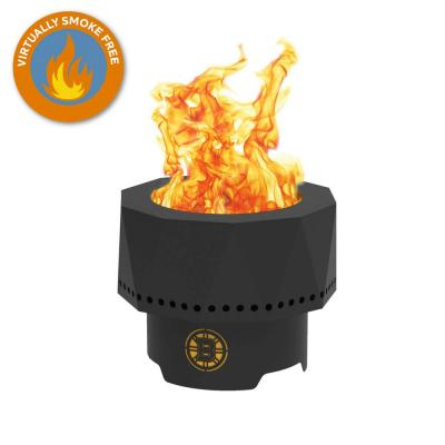 The Ridge NHL 15.7 in. x 12.5 in. Round Steel Wood Pellet Portable Fire Pit -Boston Bruins