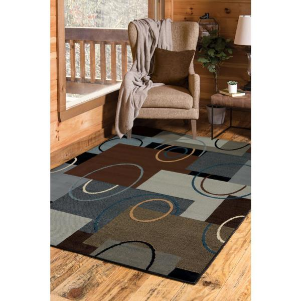 United Weavers Manhattan Oshi Brown 5 Ft 3 In X 7 Ft 6 In Area Rug 940 39950 69 The Home Depot