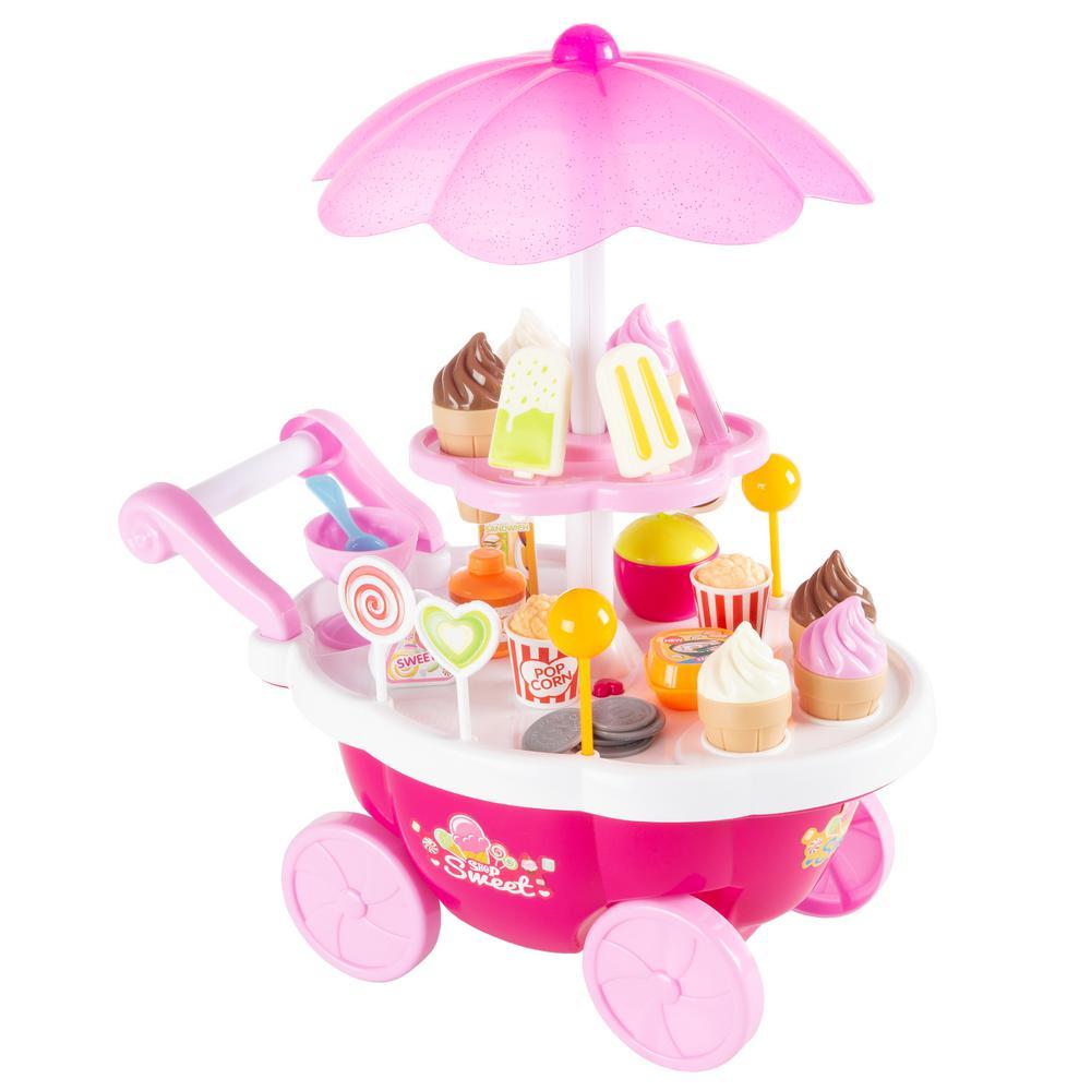 Kids Pretend Play Mini Ice Cream Cart
