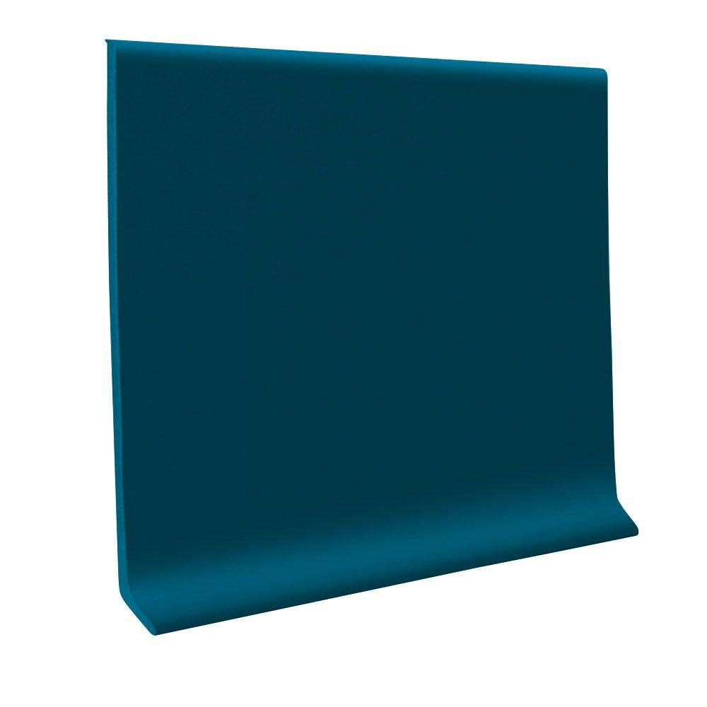 ROPPE Blue 4 in. x 120 ft. x 1/8 in. Vinyl Wall Cove Base Coil
