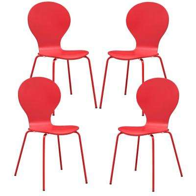 Red Petal Dining Chair (Set of 4)