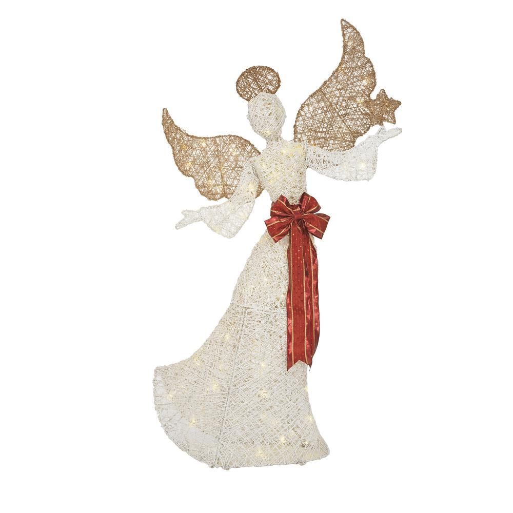 4 ft tall LED Angel - Outdoor Christmas Decor 44 in ...