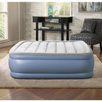 Queen 17 in. Hi Loft Raised Adjustable Air Bed Mattress Set