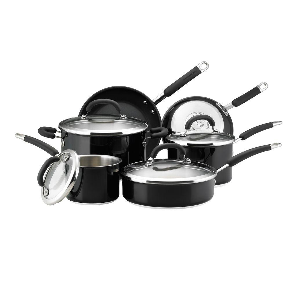 Rachael Ray Colored Stainless Steel 10-Piece Cookware Set-DISCONTINUED