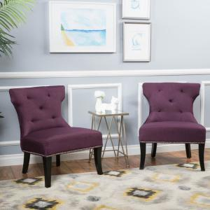 Miraculous Genevieve Deep Purple Fabric Accent Chair Gamerscity Chair Design For Home Gamerscityorg