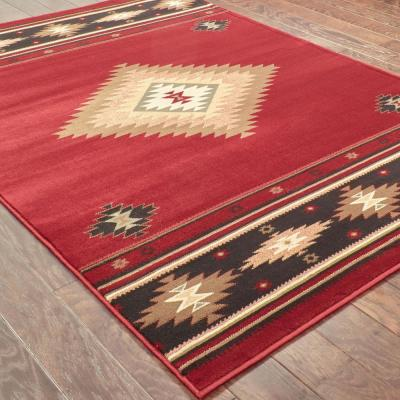Catskill Red 8 ft. x 11 ft. Area Rug