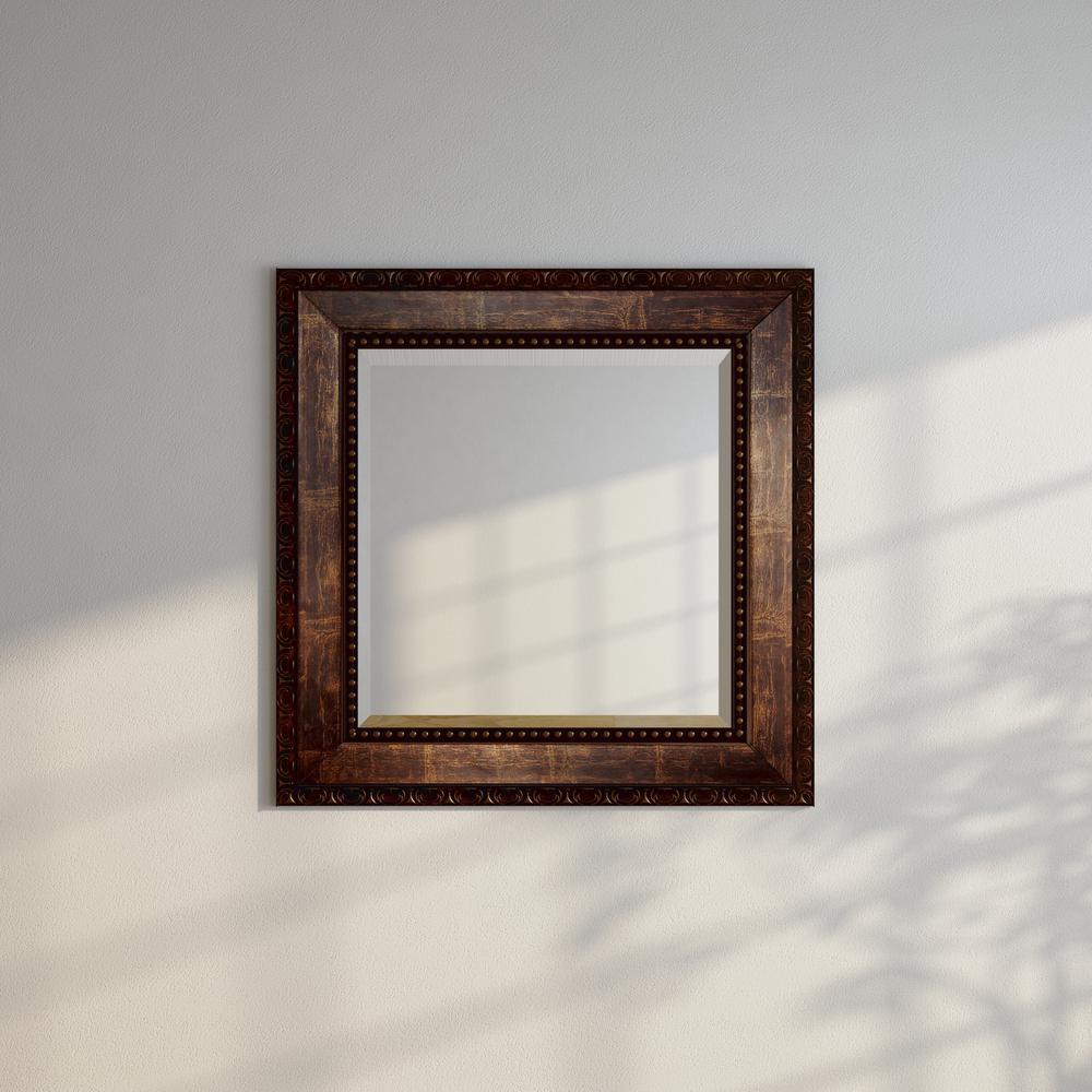 39.5 in. x 39.5 in. Roman Copper Bronze Square Vanity Wall Mirror