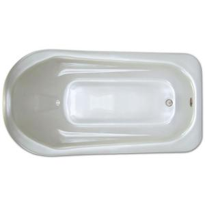 6 ft. Rectangular Drop-in Non-Whirlpool Bathtub in White by