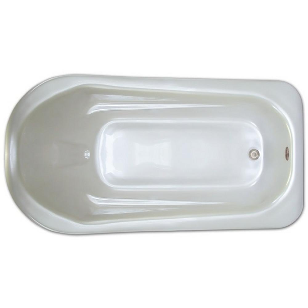 6 ft. Rectangular Drop-in Non-Whirlpool Bathtub in White