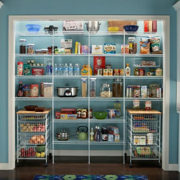 Closetmaid Close Mesh 72 In W X 20 In D Ventilated Pantry Shelf 1396 The Home Depot