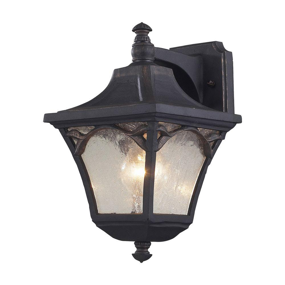 Titan Lighting Hamilton Park Outdoor Weathered Charcoal Wall Sconce-DISCONTINUED