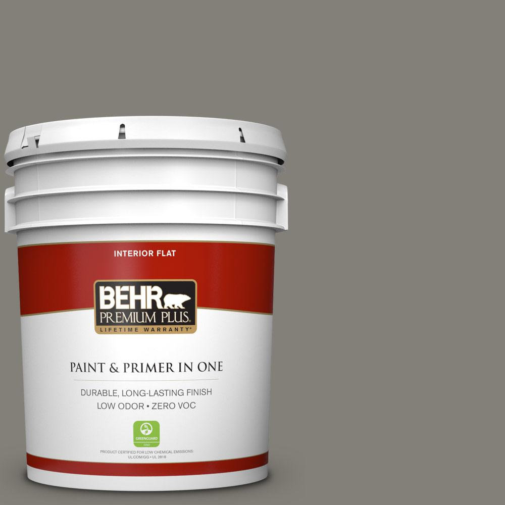 BEHR Premium Plus 5-gal. #N360-5 Mossy Oak Flat Interior Paint